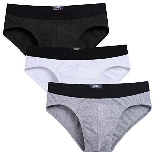 Avidlove Men Underwear Cotton Bikinis 3 Pack Hip Briefs