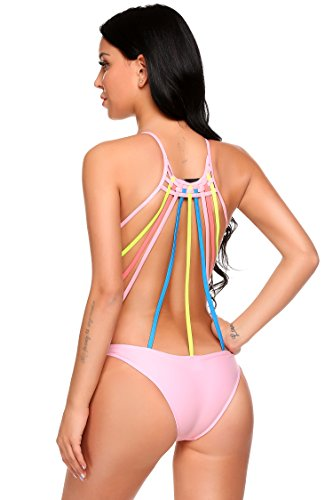 Avidlove Women's One Piece Monokini Deep-V Neck Swimsuits Bathing Suit