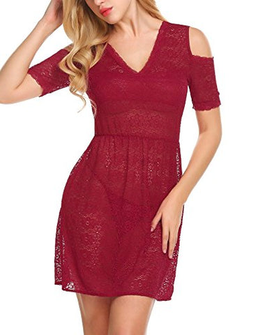 Avidlove Women's Sexy Sheer Lingerie Nightdress Floral Lace Babydoll Nightgown