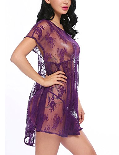 Avidlove Women Sexy Lingerie Lace Babydoll Sleep Dress Sheer Chemise Nightwear