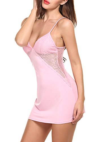 Avidlove Women Chemises Sexy Lingerie Lace Babydoll Full Slip Sleepwear Dress