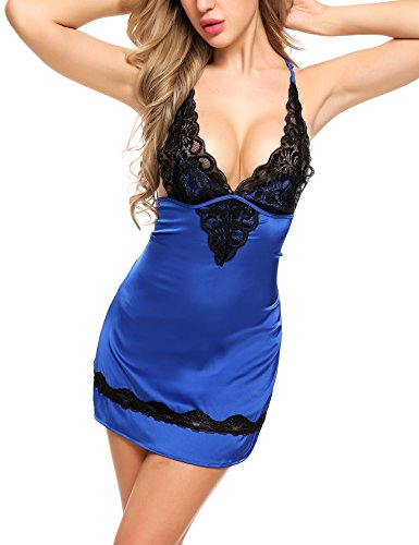 Avidlove Lace Satin Lingerie For Women Sexy Bodycon Nightwear Mini Babydoll Sleepwear