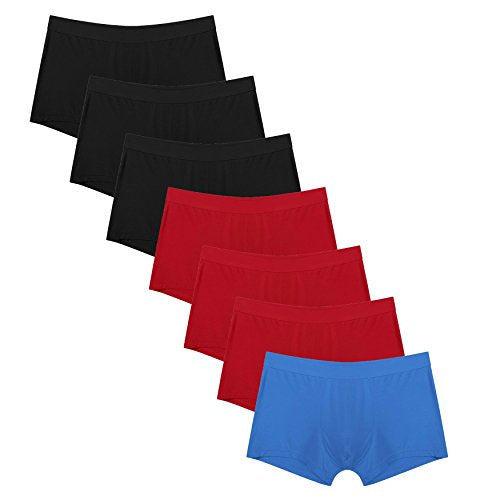 Avidlove Men Underwear Cotton Trunks Short Boxer Briefs Multicolors 7 Packs
