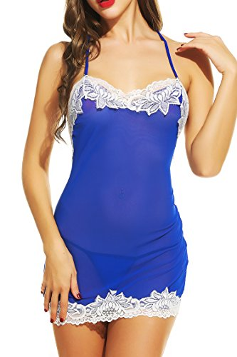 Avidlove Women Lingerie Lace Babydoll Halter Nightwear Backless Sleepwear