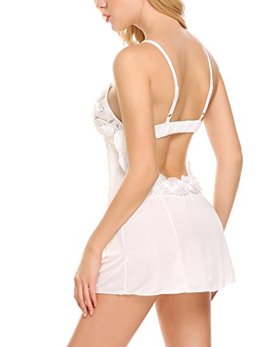 Avidlove Sexy Bridal Lingerie Honeymoon Sheer Nighties Chemise for Wedding Night