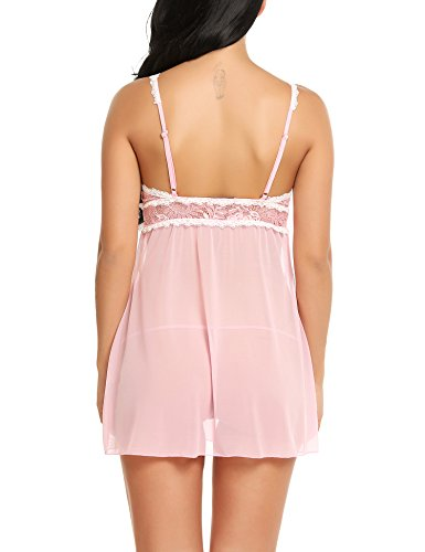 Avidlove Baby Doll Lingerie For Women Deep V Sexy Lace Mini Babydoll Nightdress