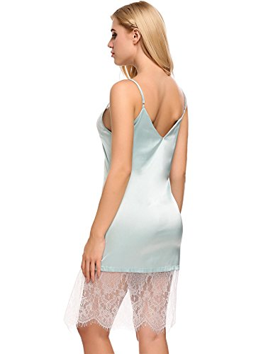 Avidlove Sleepwear Women Lace Sexy Lingerie Satin Nightgown Slip Lounge Dress