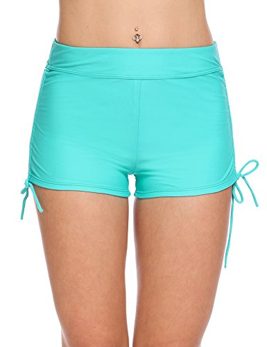 Avidlove Swim Shorts for Women Solid Boyleg Bikini Bottom Shorts Swimsuit