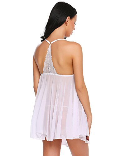 Avidlove Sexy Lingerie Set for Women Mesh Chemise Babydoll Sheer Nighties
