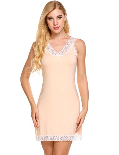 Avidlove Womens Sexy Chemise Lace Straps Slip Nightgown