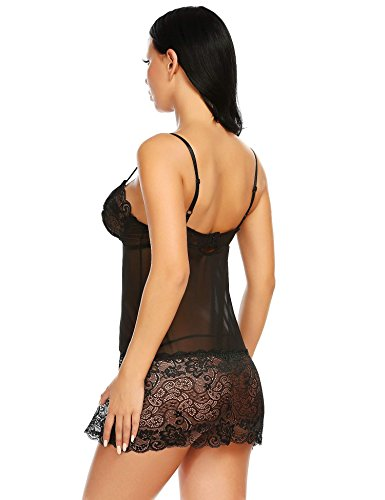 Avidlove Sexy Lingerie For Women Lace Chemise Babydoll Mesh Nightgown Sleepwear