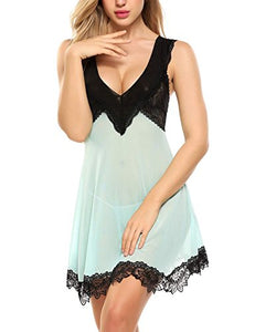 Avidlove Sexy Babydoll Lingerie For Women Lace Chemise Nightgown Sleepwear