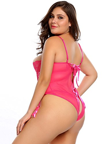 Avidlove Plus Size Women's Sexy Strap Babydoll Nightwear Lace Lingerie Outfits
