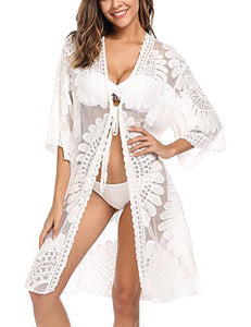Avidlove Women's Floral Bathing Suit Cover UPS Beach Wear Kimono Cardigan
