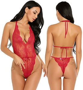 Avidlove Teddy Lingerie for Women One Piece Babydoll Lace Bodysuit Romper