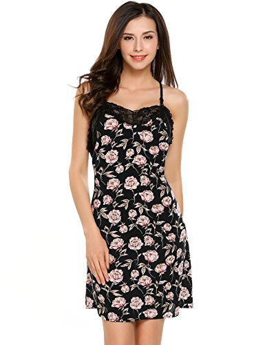Avidlove Womens Sexy Floral Nightgown Lace Lingerie Chemise Nightshirt Full Slip Dress