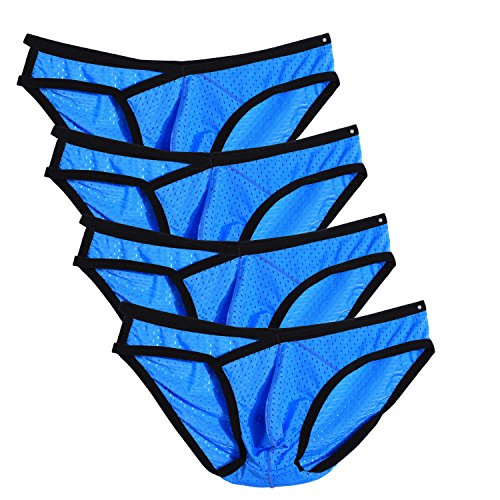 Avidlove Men Underwear Mesh Ventilate Briefs 4 Packs Bikinis