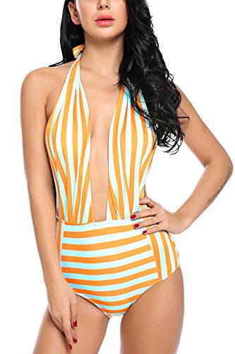Avidlove Women One Piece Swimsuits Backless Bathing Suits Pin up Monokinis Swimwear