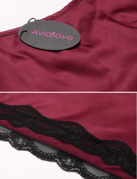 Avidlove Women Babydoll for Women Satin Nightwear Lace Chemise Sexy Nightgown