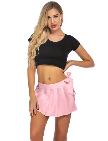 ADOME Women Lingerie Role Play Pleated Costume Mini Skirt Schoolgirl Outifts