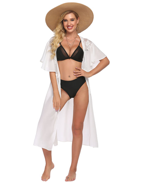 ADOME Women Chiffon Bathing Suit Cover Ups for Beach Pool Swimwear Swimsuit Bikini Beachwear