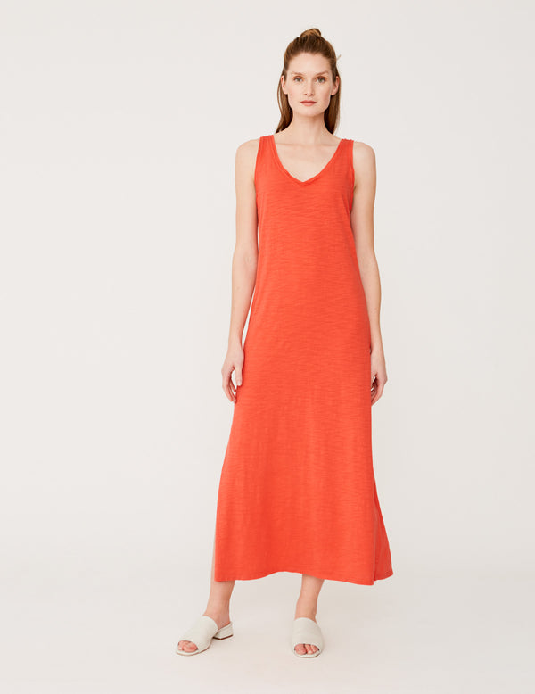 YERSE MAXI DRESS PAULA IN CORAL
