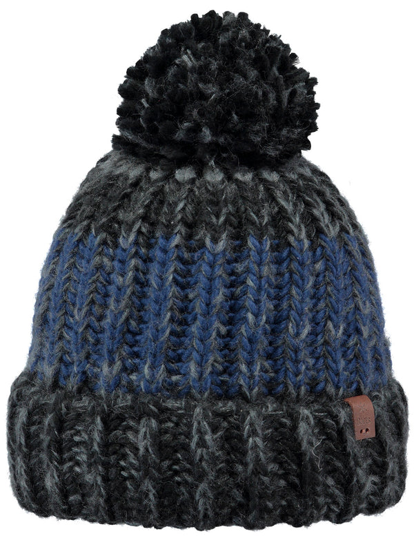 BARTS MENS CHUNKY KNIT BOBBLE HAT