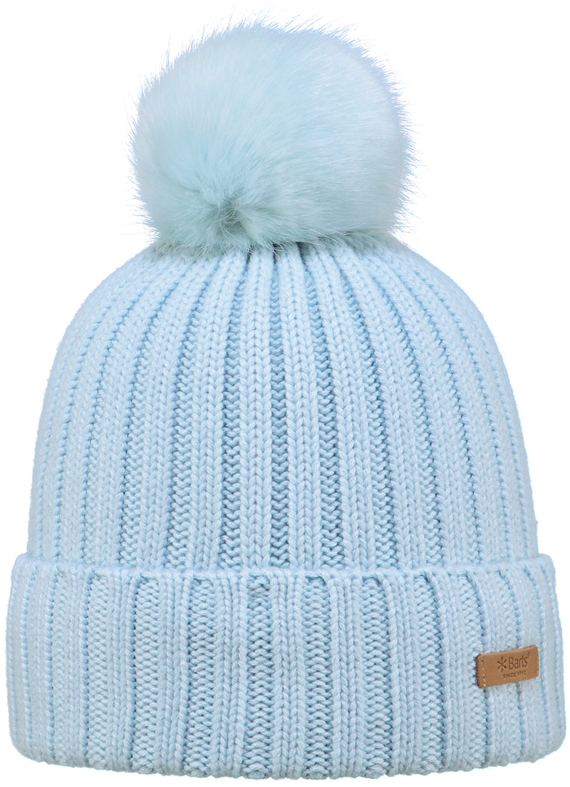 BARTS WOMENS BEANIE WITH SOFT FAUX FUR BOBBLE