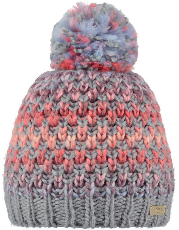 BARTS WOMENS PATTERNED BOBBLE HAT