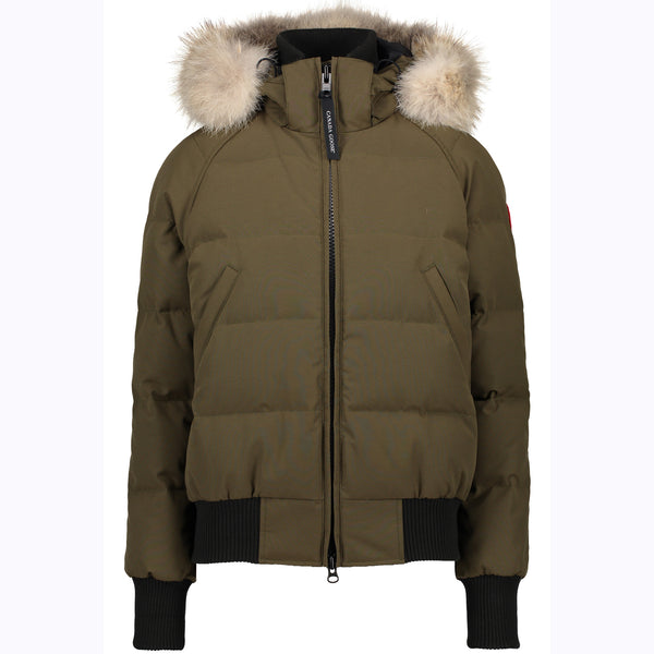 CANADA GOOSE WOMENS SAVONA BOMBER JACKET IN MILITARY GREEN