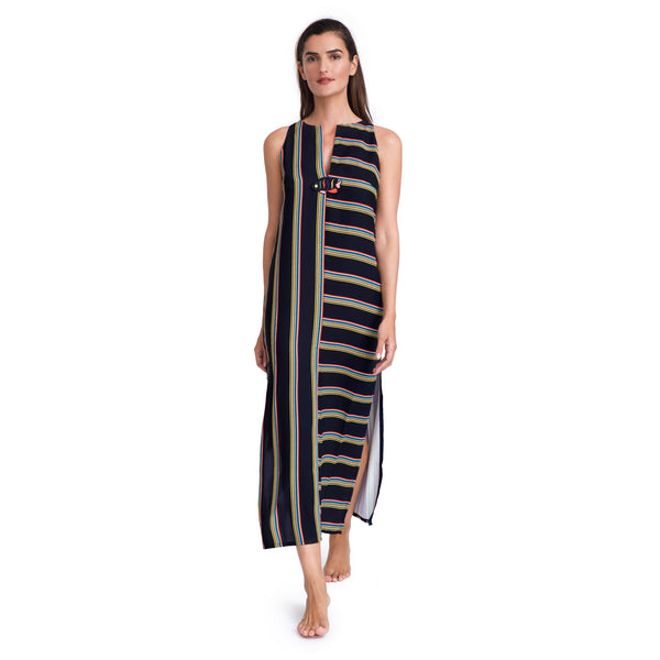 GIDEON OBERSON MARITIME MAXI DRESS
