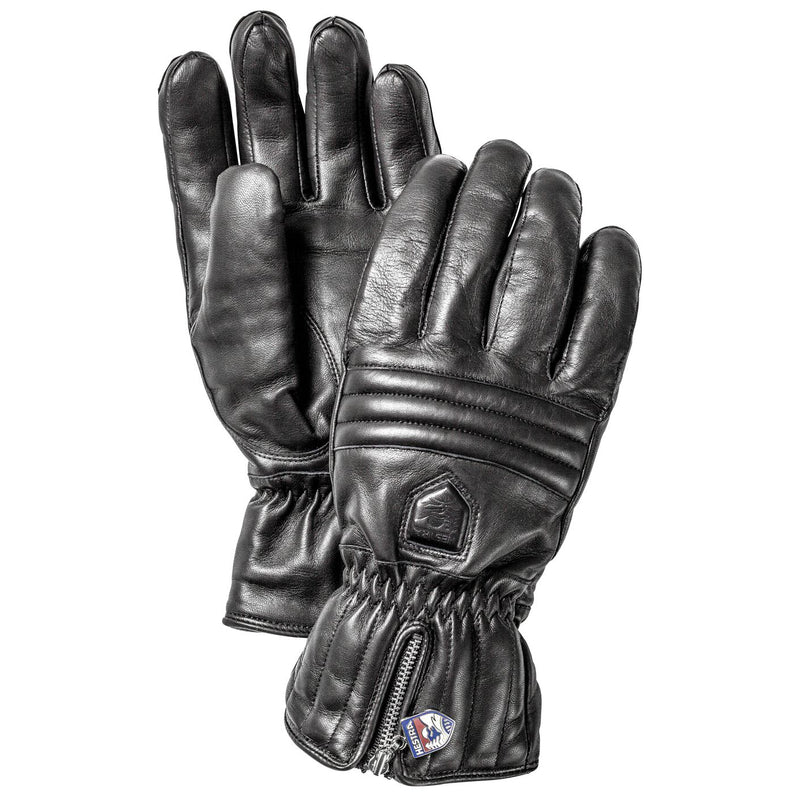 HESTRA WOMENS LEATHER BLACK SKI GLOVE