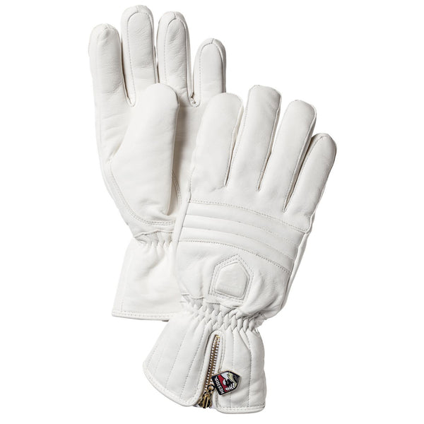HESTRA WOMENS LEATHER WHITE SKI GLOVE