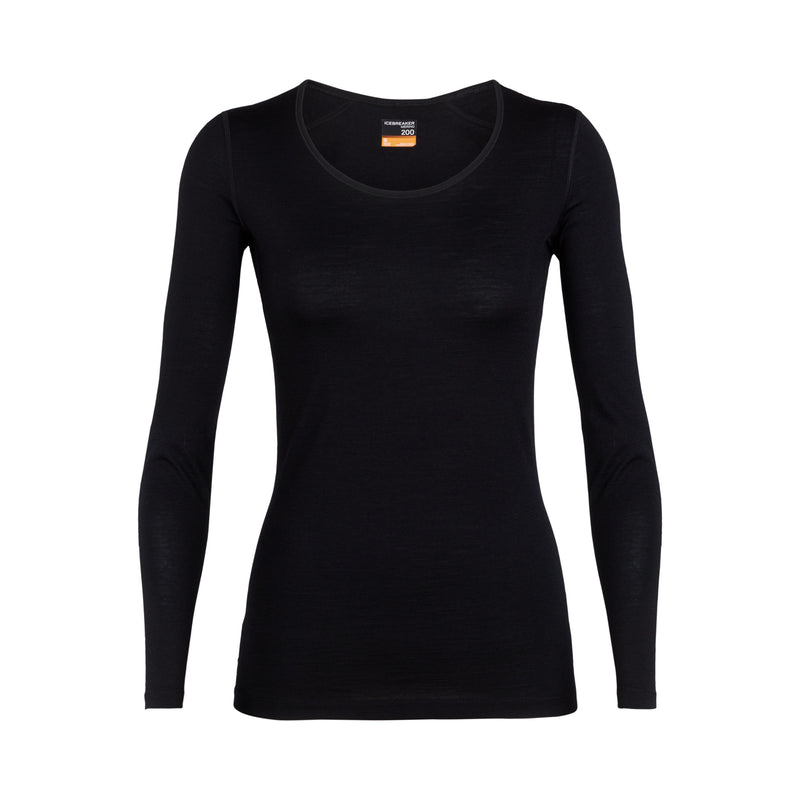 ICEBREAKER WOMENS OASIS SCOOP NECK BASE LAYER