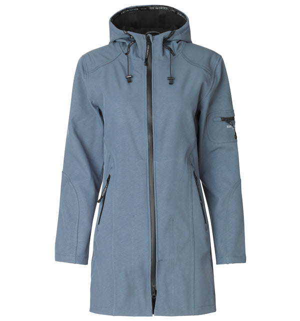 ILSE JACOBSEN RAIN07 JACKET IN BLUE GREY