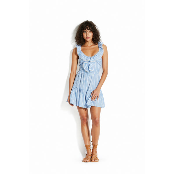 SEAFOLLY COTTON DRESS WITH RUFFLES