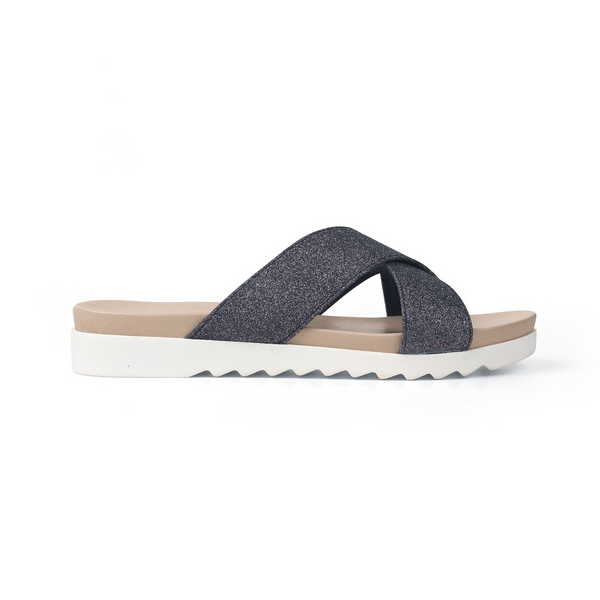ILSE JACOBSEN SLIP ON SANDAL CHIRA IN GUNMETAL