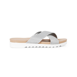 ILSE JACOBSEN SLIP ON SANDAL CHIRA IN SILVER