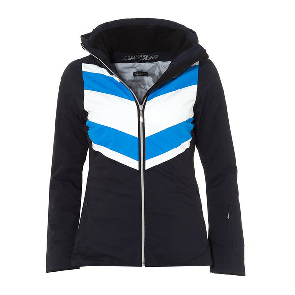 HENRI DUVILLARD WOMENS SKI JACKET WITH CHEVRON DESIGN