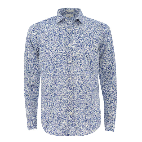 HARTFORD MENS SHIRT LIBERTY PRINT BLUE