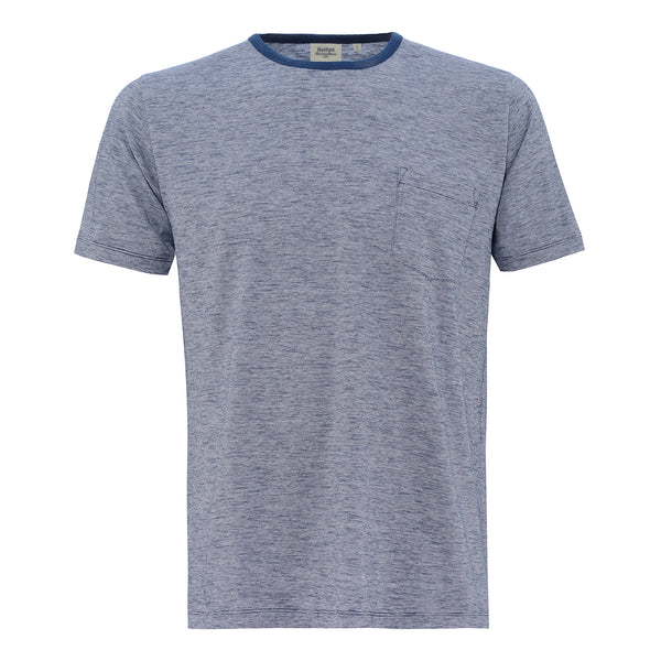 HARTFORD MEN'S COTTON TEE SHIRT INDIGO