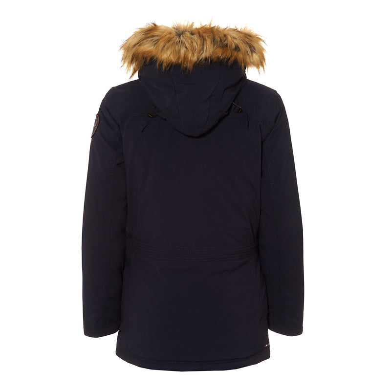 NAPAPIJRI WOMENS SKIDOO OPEN JACKET WITH FAUX FUR TRIM HOOD
