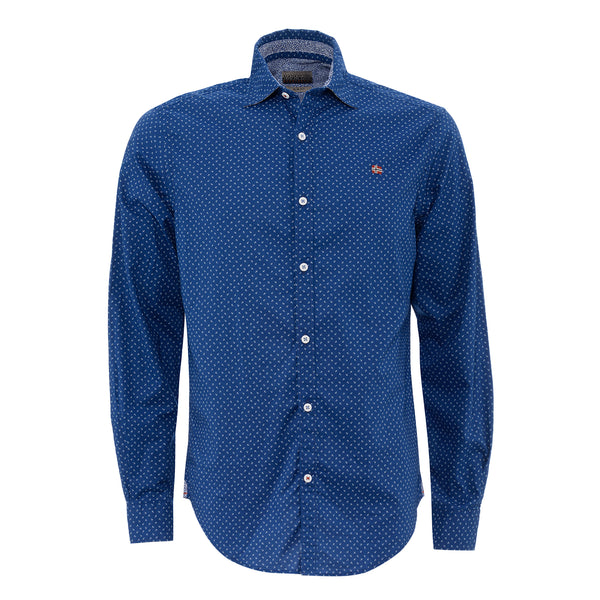 NAPAPIJRI MENS COTTON SHIRT DARK BLUE