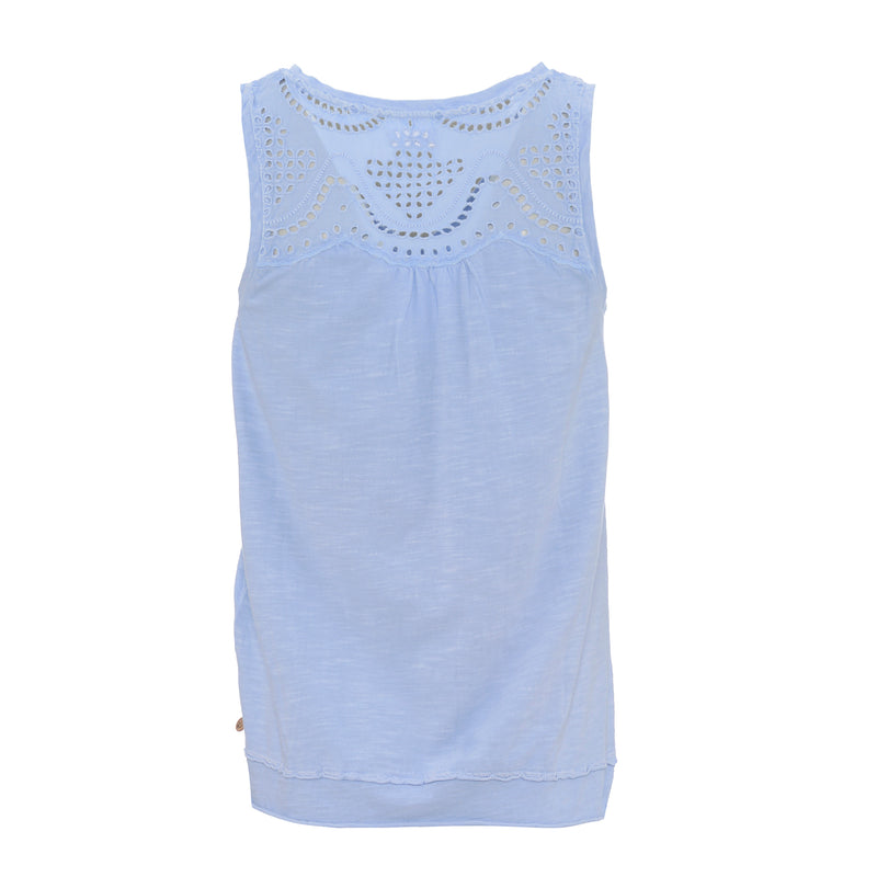 YERSE WOMENS VEST TOP WITH LACE DETAIL LISBET