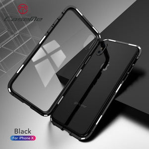 2019 New Magnetic Adsorption Glass Cover Case for iPhone