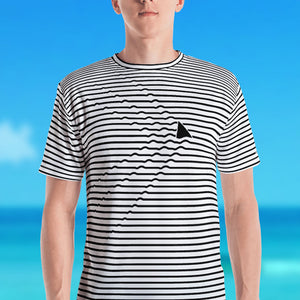 Shark Ripples Men's Crew Neck T-Shirt