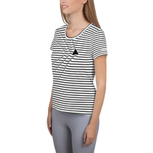 Load image into Gallery viewer, Shark Ripples Women's Athletic T-Shirt