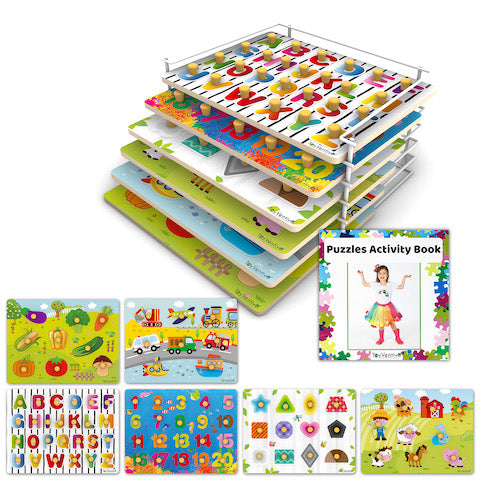 6 piece puzzle set for toddlers