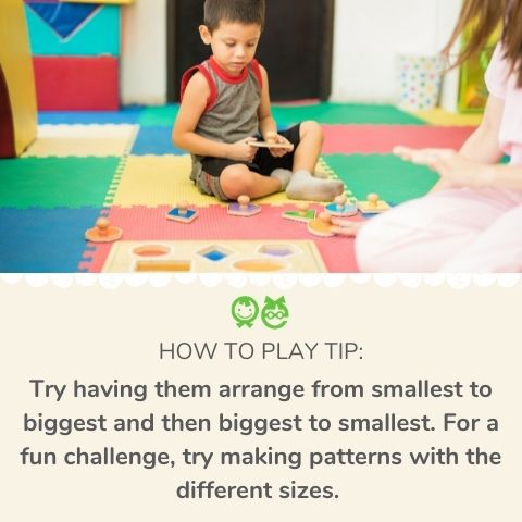 Activities with toddler peg puzzles