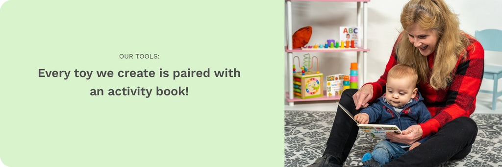 Our Story - Our Tools, Every toy is paired with an activity book